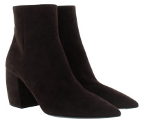 Ankle Boots Suede Logo Lettering Moro Schuhe