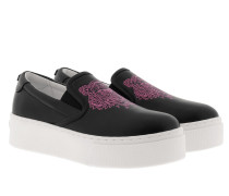 K-PY Tiger Slip On Platform Black Schuhe