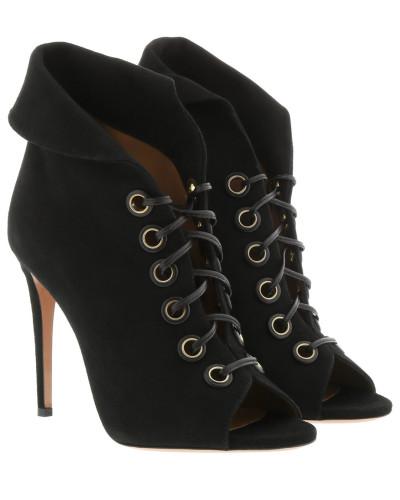 Boots Eva Booties Leather Black schwarz