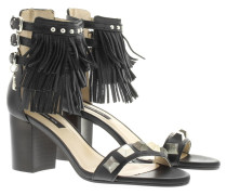 Sandalen - Leather Heel Sandale Nero