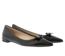 Calzature Donna Vernice Nero Ballerinas schwarz