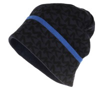 Caps Men Center Striped Cuff Hat Lt Navy