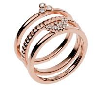 Ring Sterling Silver Stacker Set Roségold