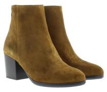 Silvia Crosta Ankle Boot Senape Schuhe cognac