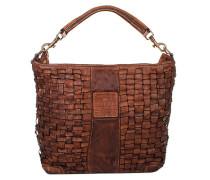 Sacca Picc Intrecciata Cognac Hobo Bag