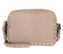 Rockstud Camera Bag Grained Poudre rosa
