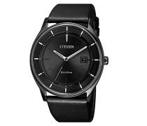 Uhr Leather Wristwatch Black