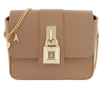 Lock Satchel Bag Noisette