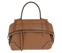 Wave Bag Chain Details Brandy Satchel