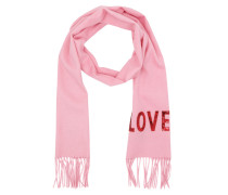 Embroidered Love Scarf Pink Schal