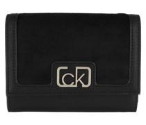 Portemonnaie Trifold Wallet Medium V Black
