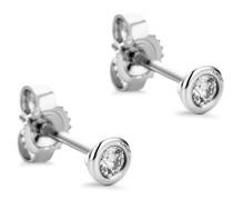 Ohrringe 0.1ct Diamond Stud Solitaire Earring