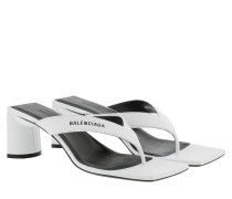 Sandalen Double Square Sandal Leather White/Black