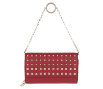 Rockstud Wallet On Chain Red Portemonnaie