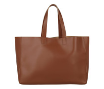 Ruga Calf Leather Shopping Bag Cognac