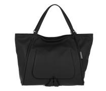 Velvet Leather Shopper Black/Gold