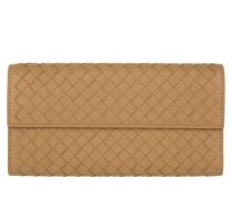Kleinleder - Intrecciato Nappa Continental Wallet Camel