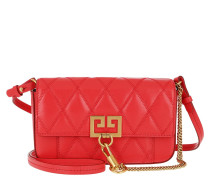 Umhängetasche Mini Pocket Bag Diamond Quilted Leather Red