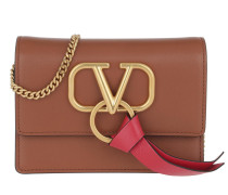 Umhängetasche V Ring Crossbody Bag Leather Selleria/Rouge Pur