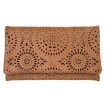 Mustang Lasered Clutch Cuoio cognac