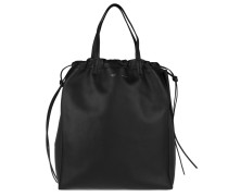 Coulisse Vertical Bag Black/Burgundy Tote