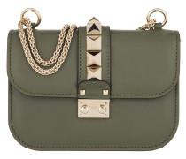 Rockstud Lock Shoulder Bag Small Military Green