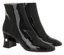 Boots Patent Crystal Bootie Black