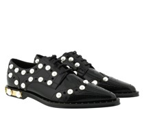 Schuhe Derby Pearl Embroidery Leather Black