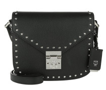Patricia Studded Outline Park Avenue Small Shoulder Bag Black
