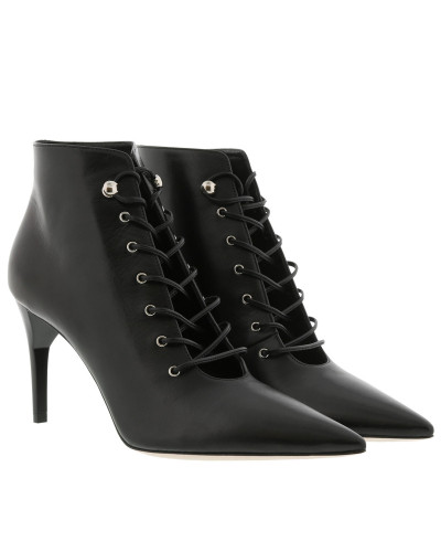 Pumps Pointed Lace-Up Booties Nero schwarz