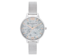 Uhr Quartz Watch Women Terrazzo FloralOB16TZ06 Silver