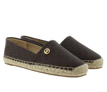 Kendrick Slip On Mini MK Logo PVC Brown Espadrilles