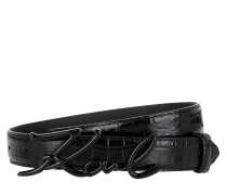 Gürtel Signature Croco Belt Black