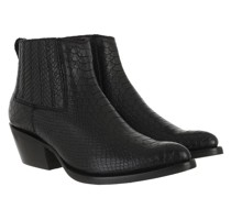 Boots Snake Print Bootie Black