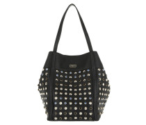 Bejeweled Leatherette Shopping Bag Black Umhängetasche schwarz
