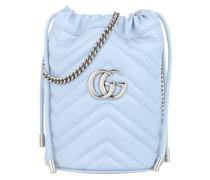 Beuteltasche GG Marmont Mini Bucket Bag Leather Light Blue