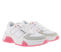 Sneakers Chunky Leather Suede White