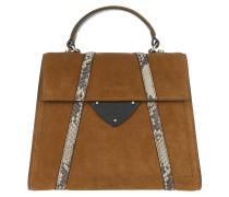 Mix Handle Bag Cuir/Noir Satchel