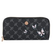 Melete Soft Zip Around Wallet Cortina Flying Butterflies Blue Portemonnaie