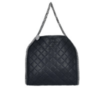 Small Tote Quilted Shaggy Deer Navy