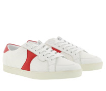 Sneakers Triomphe Low Lace Up Sneaker Mesh Calfskin White/Red