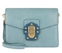 Lucia Shoulder Bag Blue Satchel