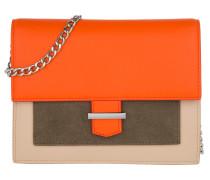 Vanity Clutch Light Beige Pochette orange