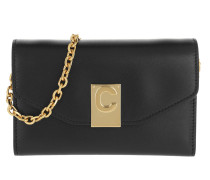 Umhängetasche C iPhone X & XS Clutch Shiny Smooth Calfskin Black