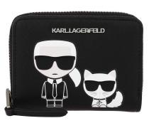 Portemonnaie K/Ikonik Sm Folded Zip Wallet Black