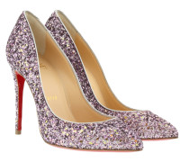 Pigalle Follies 100 Glitter/Ruban Met Pump Ronsard/Silver Pumps rosa