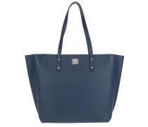 Sophie Top Zip Shopper Medium Navy Blue