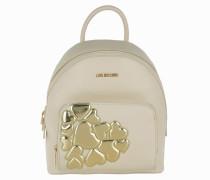 Backpack Metallic Heart Oro/Beige Rucksack