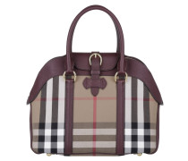 Tasche - House Check Derby Leather Medium Milverton Tote Mahogany Red