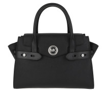 Tote Carmen LG Flap Satchel Bag Black